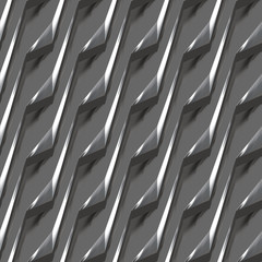 Metal Zigzag Stripes #13 - A unique metal plate design utilizing stylistic zigzag patterns.