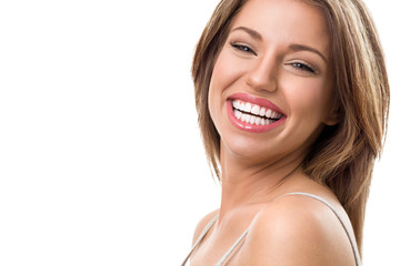 portrait of attractive happy woman