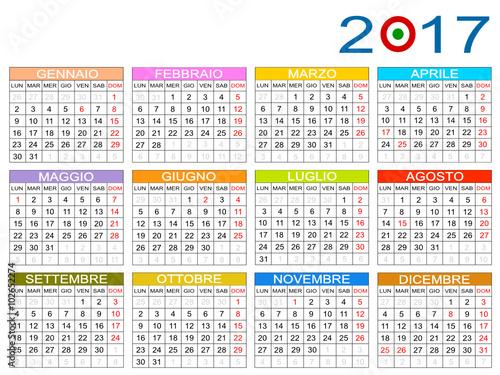 Italia Calendario.Calendario Italia 2017 Stock Image And Royalty Free Vector
