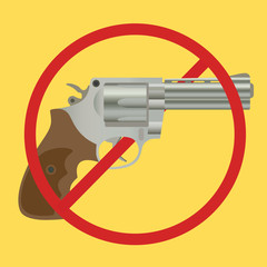 no gun ban control pistols with ban-sign
