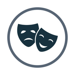 Drama and comedy masks icon