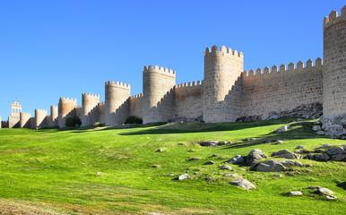 Wall Mural - City walls of Avila