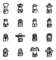 Avatar Icons Set 1 Freehand 2 Color