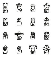 Avatar Icons Set 1 Freehand