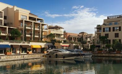 Montenegro, Tivat city. View of Porto Montenegro village.