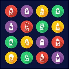 Avatar Icons Set 6 Flat Design Circe