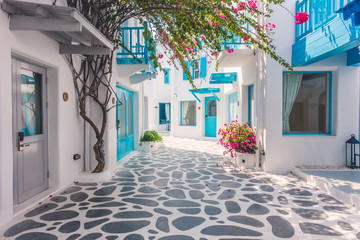 Beautiful architecture with santorini and greece style Fototapete