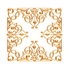 Gold Ornament elements, golden floral designs