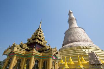 Shwemawdaw pagoda in Bago, Myanmar