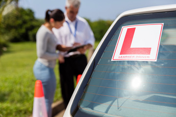 Fototapete - learner driver sign on a car
