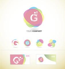 Letter G pastel colors logo