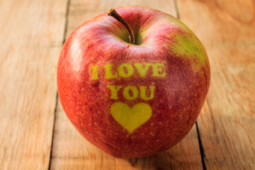 I love you apple, Valentines apple