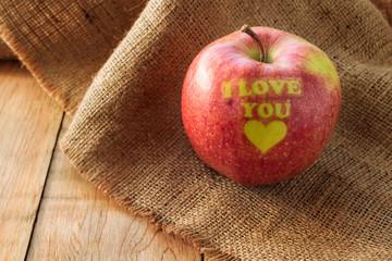 I love you apple, Valentines apple