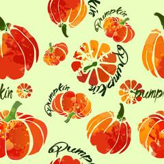 pumpkin pattern fresh watercolor