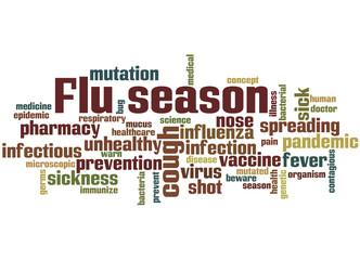 Flu season, word cloud concept 8