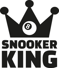 Snooker king with crown