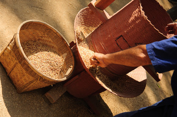Rice mill by local