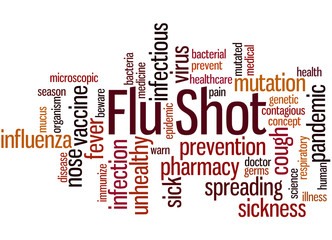 Flu Shot, word cloud concept 3