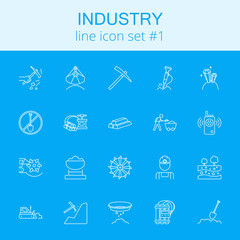 Industry icon set.