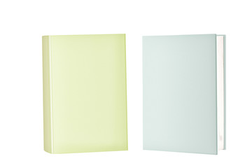 Two Blank Cover Books Standing
