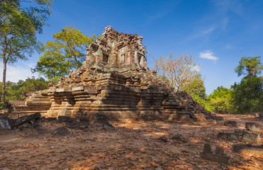 SIEM REAP, CAMBODIA. Preah Pithu temple in Angkor Thom
