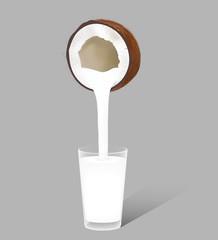 Coconut milk for your design