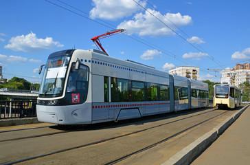 Новый трамвай в Москве