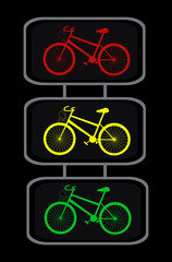 Vector traffic lights with cycles