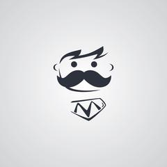 mustache guy theme