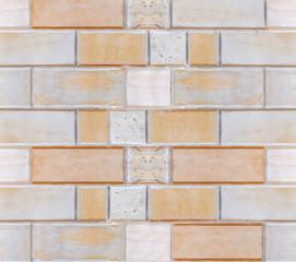 Big orange stone wall closeup background texture