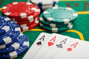poker four aces