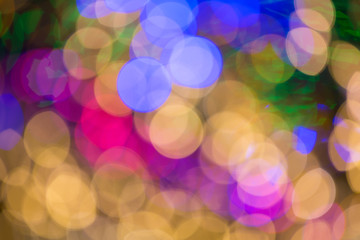 Natural bokeh lights, abstract background