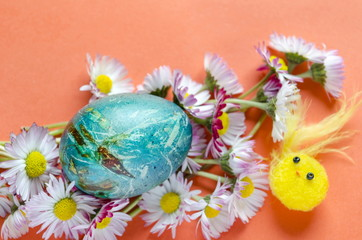 Hand painted decoupage Easter eggs