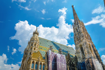 Amazing colorful St. Stephen's Cathedral of Vienna