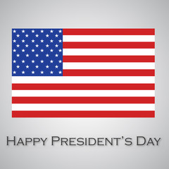 presidents day. usa flag illustration design over a white background