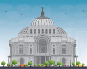 The Fine Arts Palace/Palacio de Bellas Artes in Mexico City, Mexico.