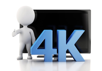 3d illustration. 4K UltraHD TV. Technology concept.