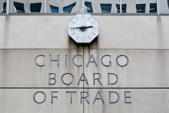 Chicago, Illinois - MAY 22, 2008: Chicago Board of Trade Building, Chicago, Illinois, USA
