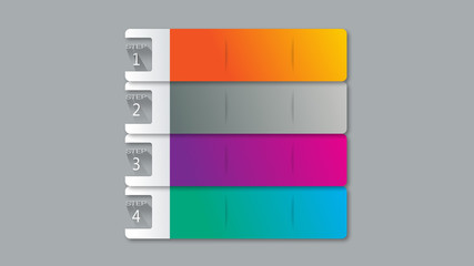 gradient colorful pallets tags boards buttons