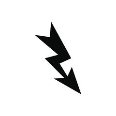 Lightning black simple icon