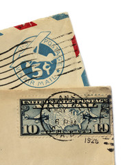 Two Old Air Mail Covers