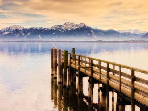 jetty on lake chiemsee (243)