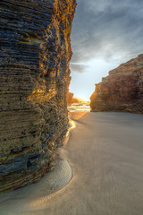 Last rays on Catedrales beach