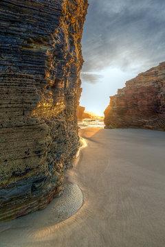 Last rays on Catedrales beach