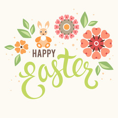 Easter Floral Bunny Card