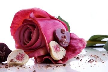 Schokolade mit Rose