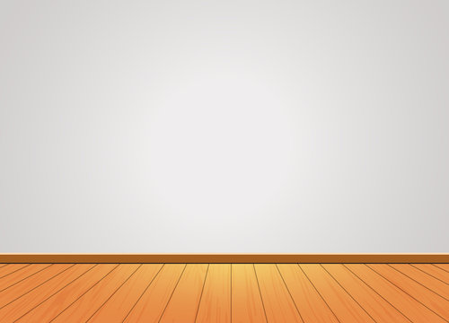 Wooden Pattern texture floor with blank  background wall ,To apply for room, interior,studio,decoration,architecture,presentation,office,vector illustration