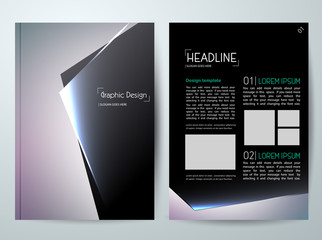Vector magazine,modern flyers brochure,cover,annual report,design templates,layout with black background in a4 size,To adapt for business poster,information,presentation,advertisement, illustration