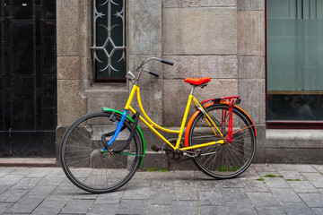 Colorful bicycle in Amsterdam.