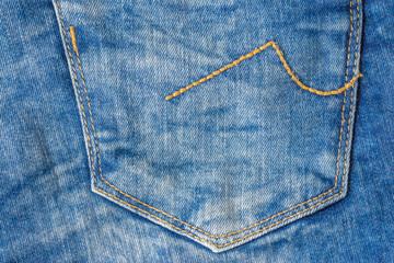 Jeans pocket - Jeans pocket close-up, textile background